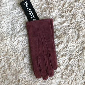 NWT Isotoner Leather Gloves Size L